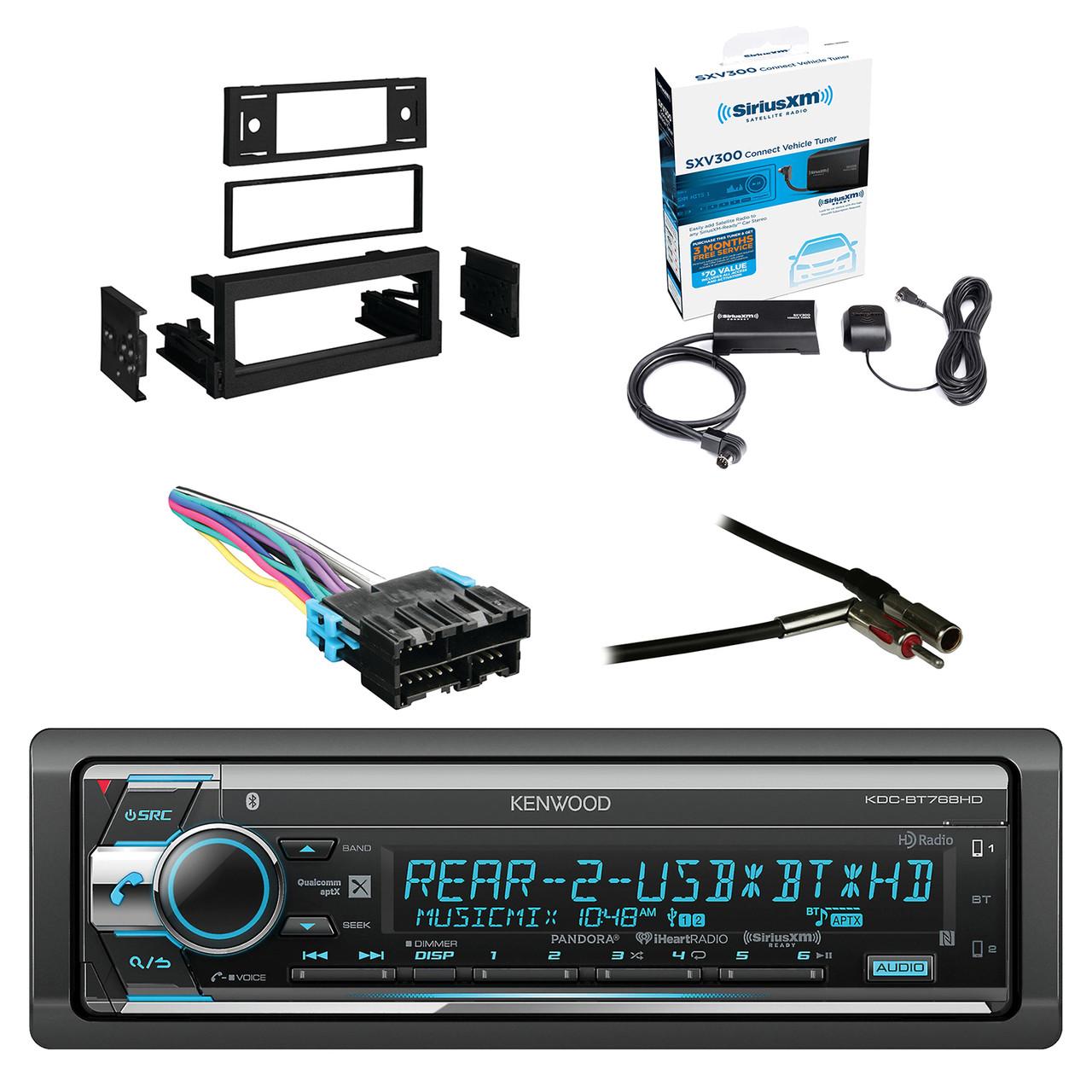 Kenwood Single Din CD/AM/FM Car Audio Receiver W/Bluetooth with SiriusXM on