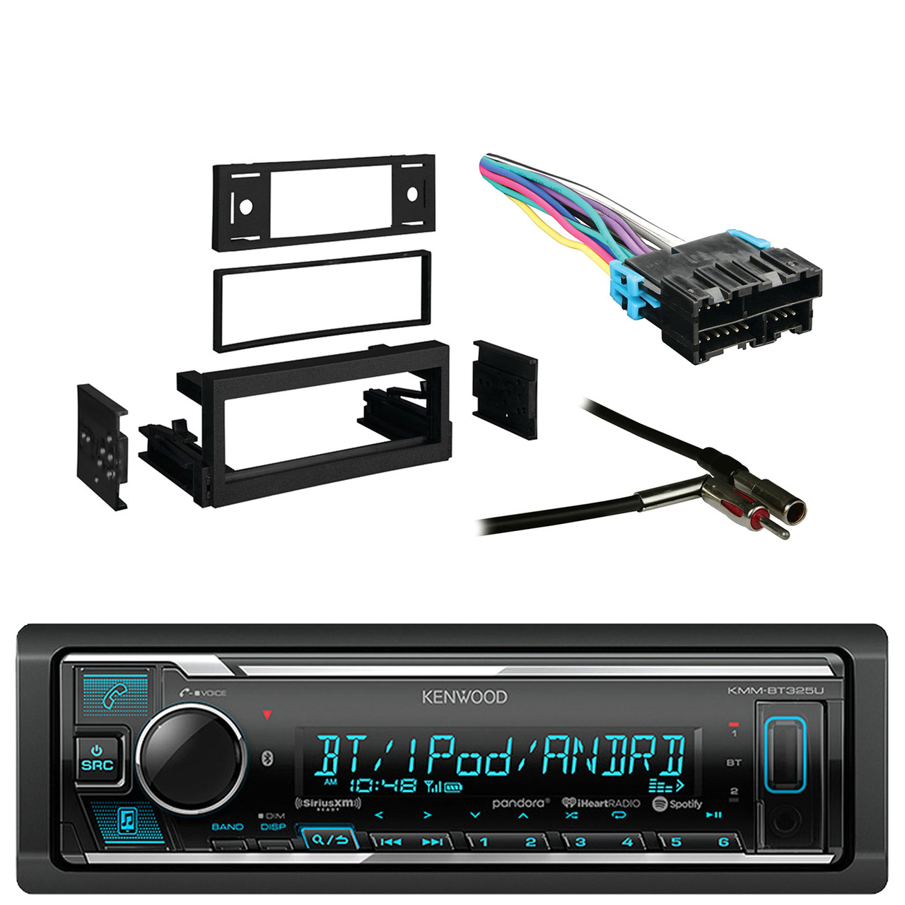 Kenwood Receiver with AM/FM tuner with Bluetooth with Metra Dash Kit on