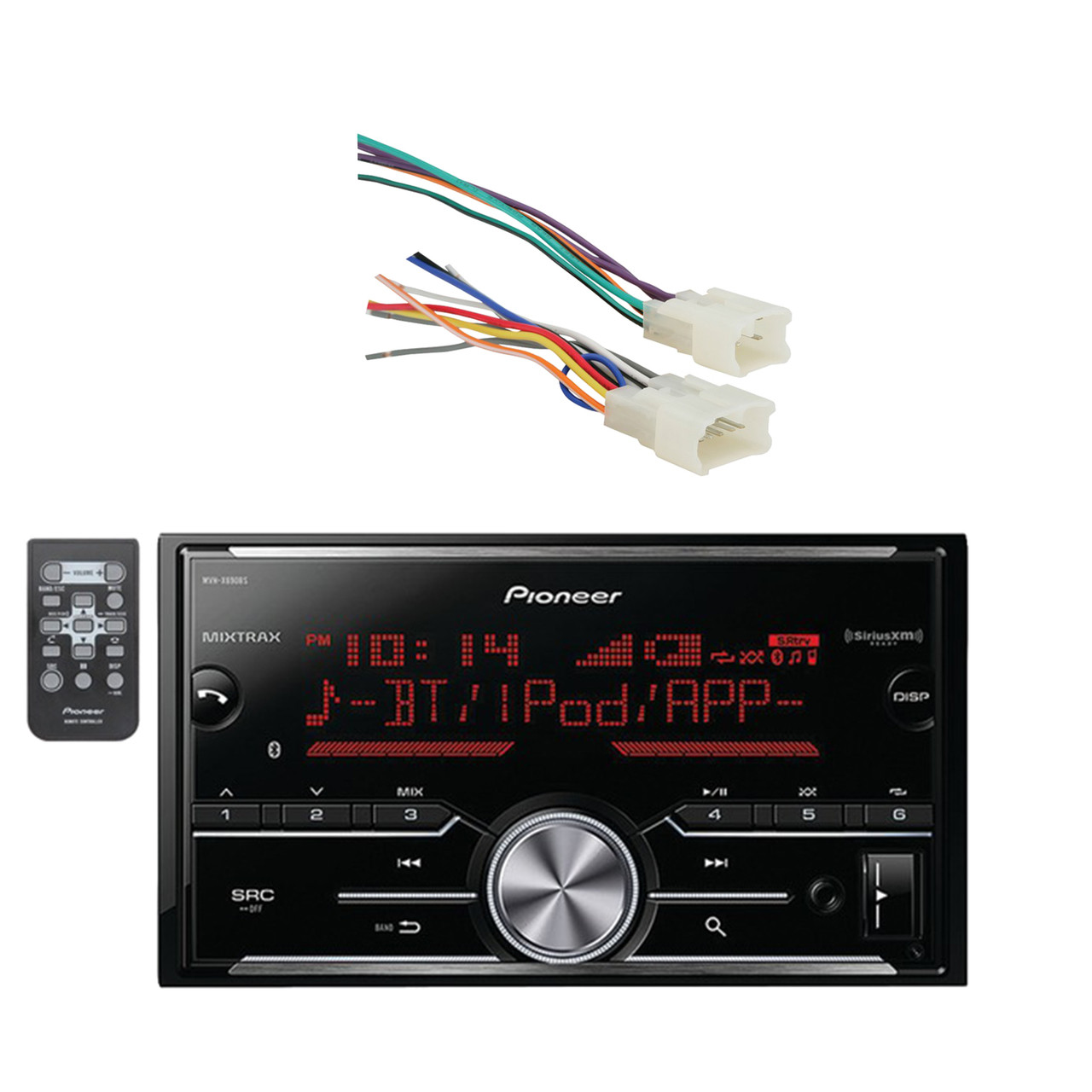 Pioneer Vehicle Digital Media Double Din Receiver with Bluetooth and on pioneer audio, pioneer wheel, radio harness, pioneer wiring-diagram, pioneer wiring installation, pioneer deh wiring, pioneer pump, pioneer wiring guide, pioneer speaker, pioneer replacement harness,