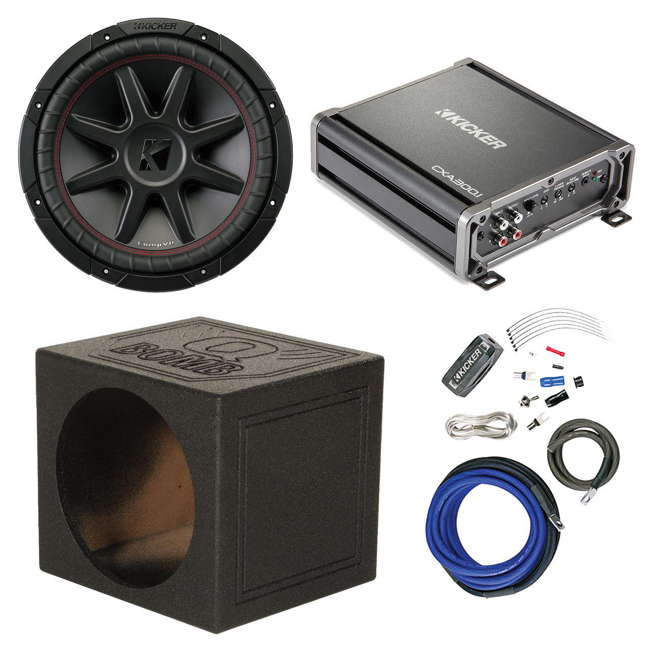 Pleasant Kicker 800W 12 2 Ohm Subwoofer 600 Watt Amplifier 12 Sub Box Wiring Cloud Pimpapsuggs Outletorg