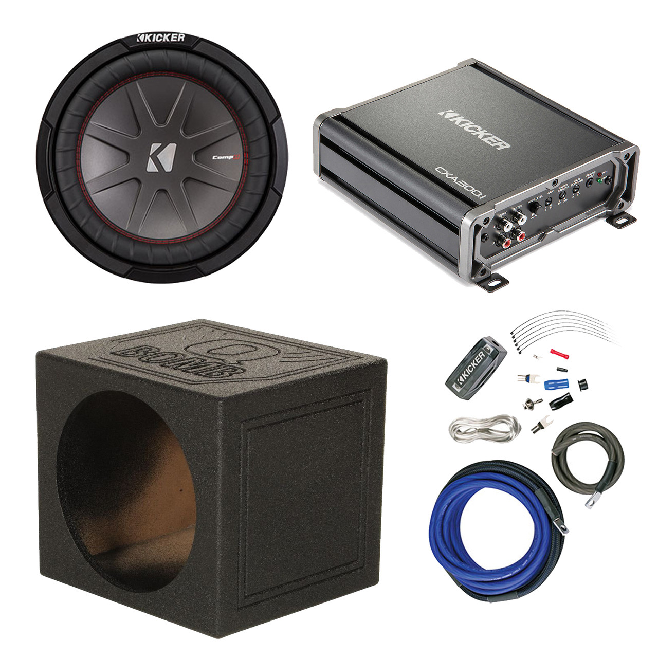 Peachy Kicker 10 Subwoofers 600Watt Amp Qpower 10 Ported Sub Box Amp Wiring Cloud Hisonuggs Outletorg