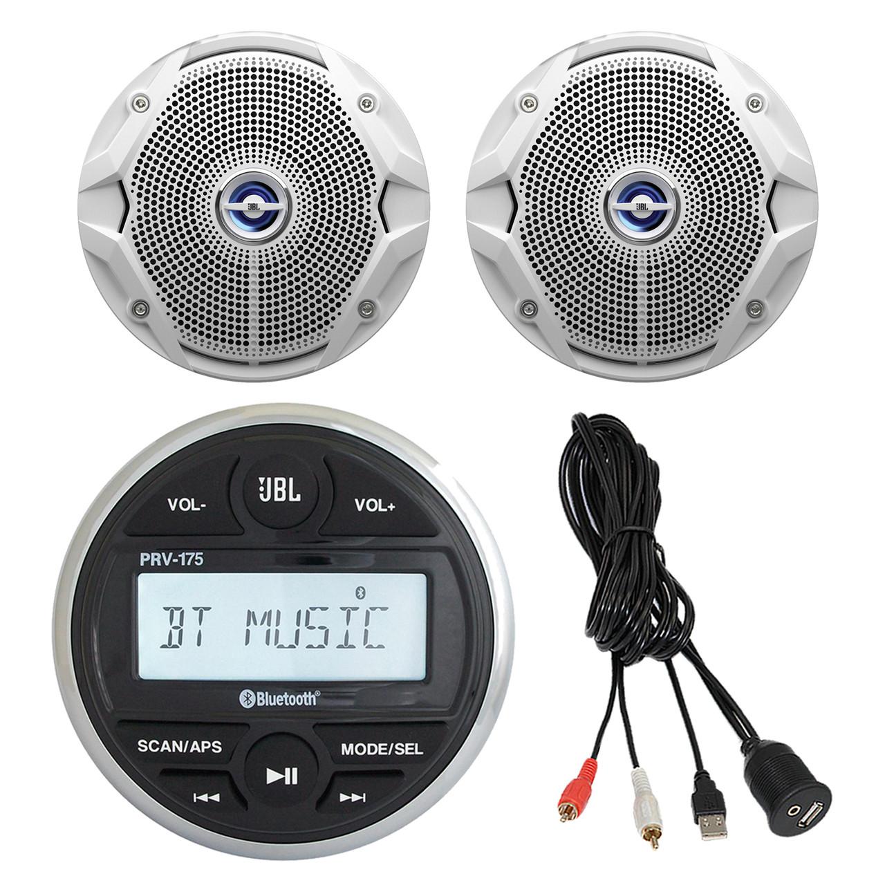 BRAND NEW JBL GAUGE STYLE STEREO MARINE AM//FM MP3 USB BLUETOOTH RECEIVER