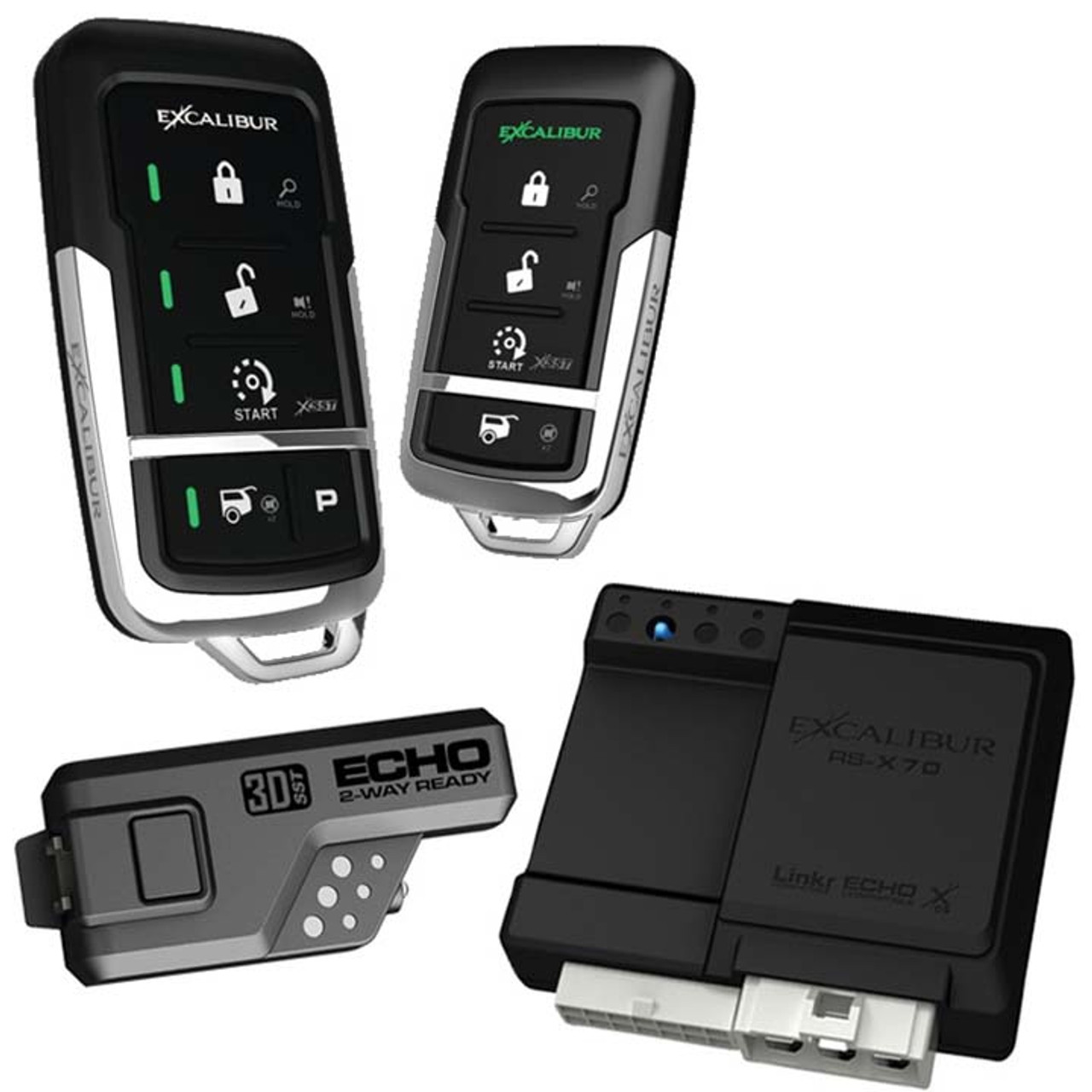 Excalibur 900Mhz Led 2-Way Keyless Entry & Remote Start (Linkr Ready)  (R-RS4753D)