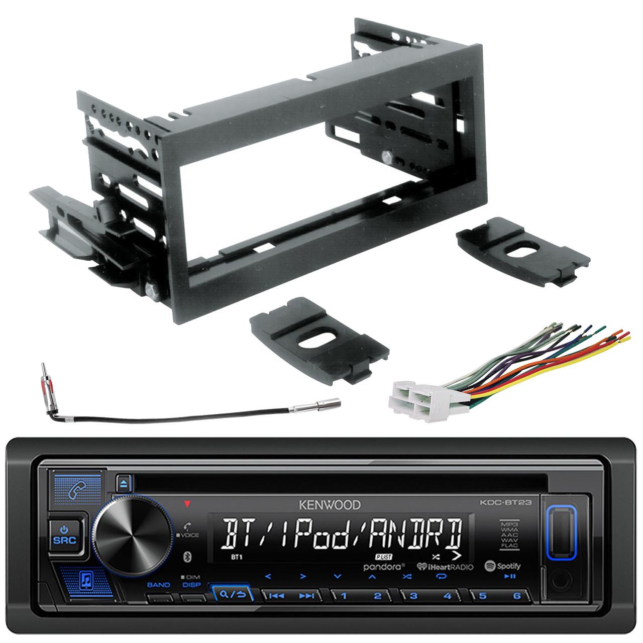 kenwood din usb mp3 cd bluetooth radio w/ scosche kit, harness, antenna  adapter - road entertainment