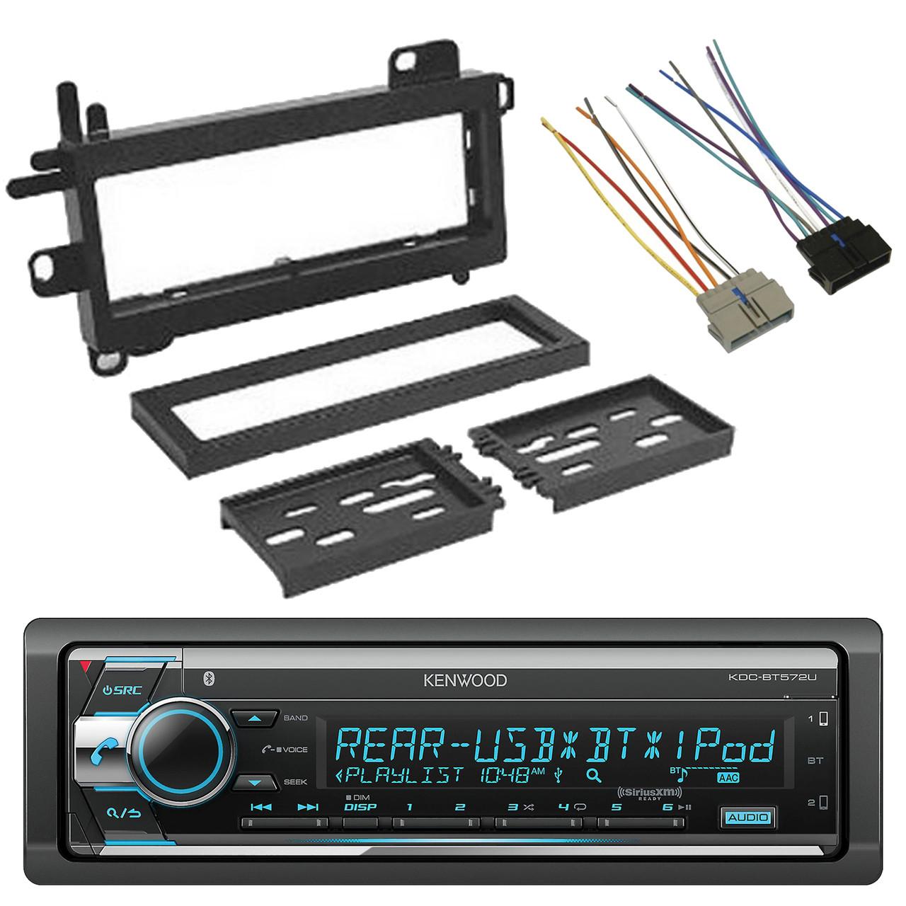 Kenwood SiriusXM-Ready CD Bluetooth Car Audio Receiver, Wire Harness, on