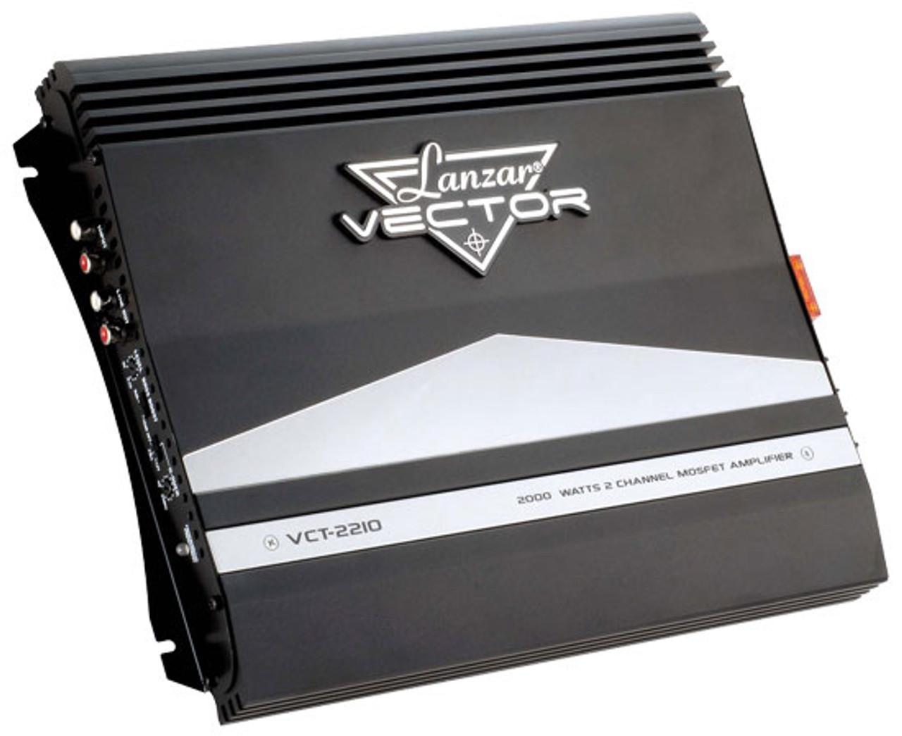 Lanzar VCT2210 2000 Watt 2 Channel High Power MOSFET Amplifier Car Audio Amp