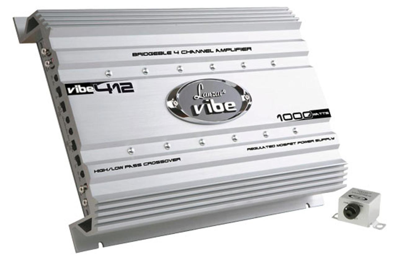 Lanzar VIBE412 Vibe 1000 Watt 4 Channel Mosfet Amplifier Car Audio Amp