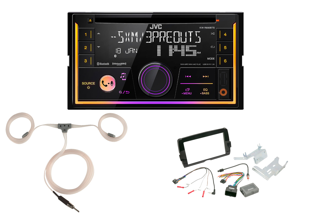 JVC KW-R930BTS Double 2 DIN CD//MP3 Player iHeart Radio SiriusXM Ready Bluetooth