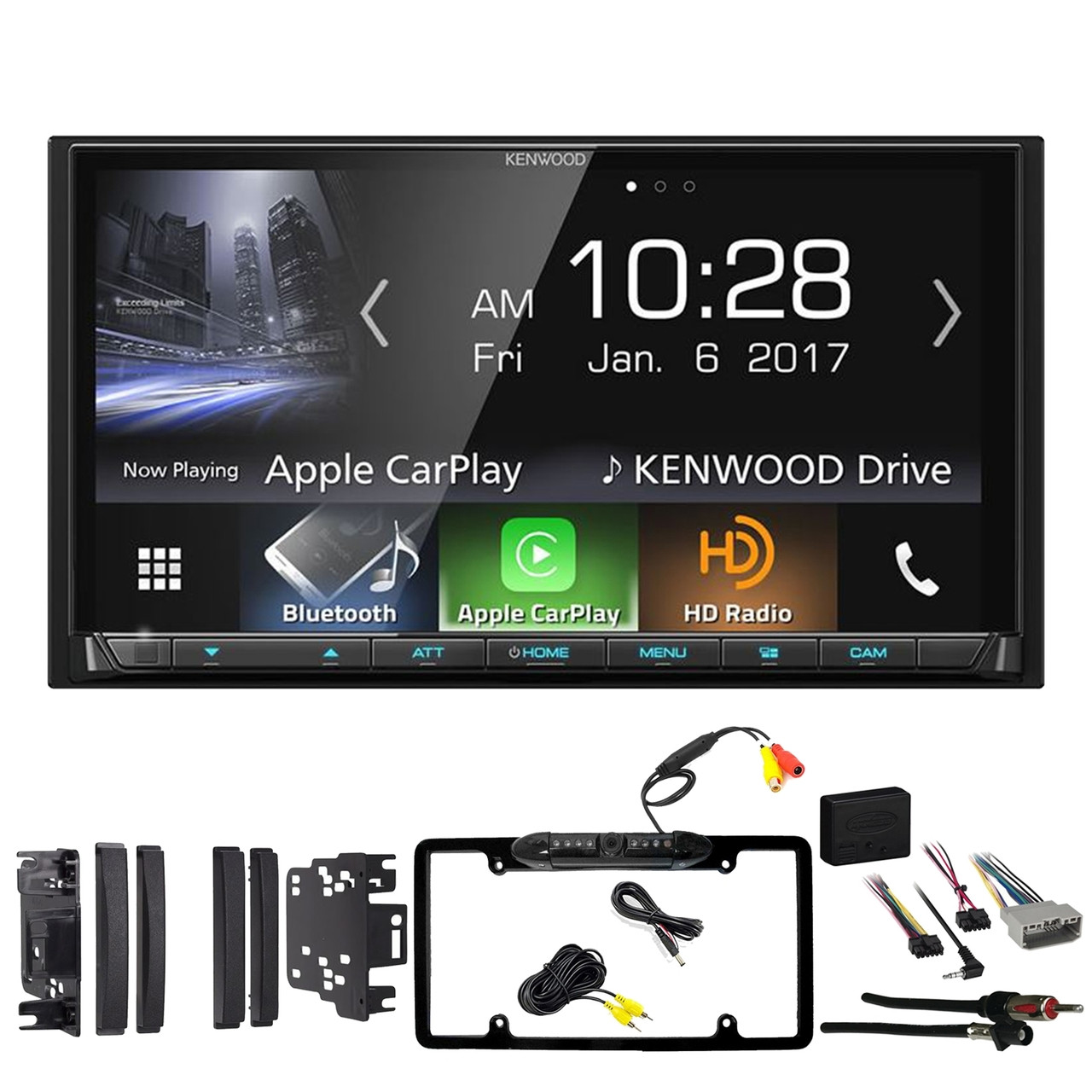 2005-2007 C-CLASS DOUBLE 2 DIN CAR STEREO DASH KIT W// WIRING HARNESS /& ANTENNA