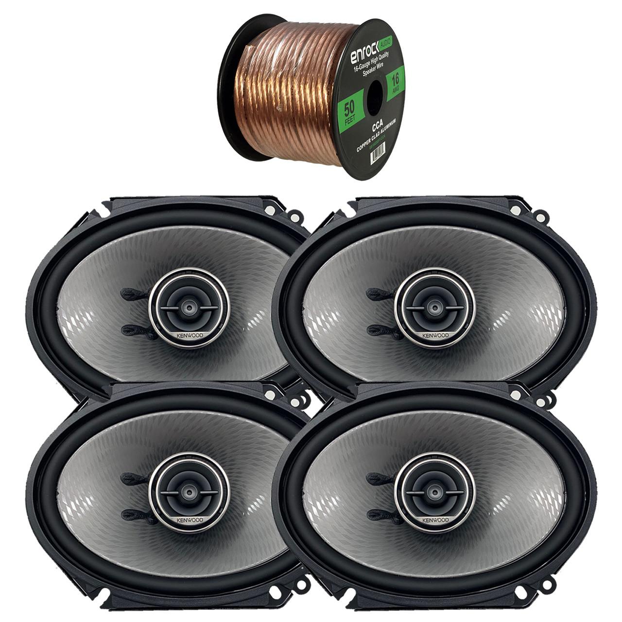 "Kenwood KFC-C5795PS 5/""x7/"" 3-Way 320 Watts Coaxial Custom Fit Car Audio Speakers"