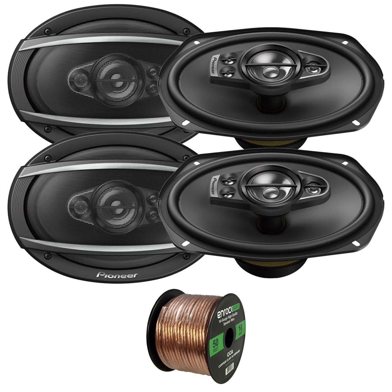 """4 x NEW PIONEER TS-A6990F 6/"""" x 9/"""" 5-WAY CAR AUDIO SPEAKERS 700W MAX"""