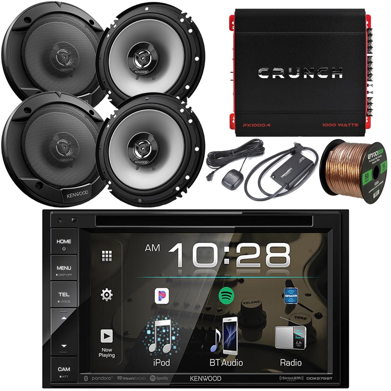 "2 Kenwood 2Way Car 6.5/"" Speakers Kenwood Double Din iPod Bluetooth CD USB Radio"