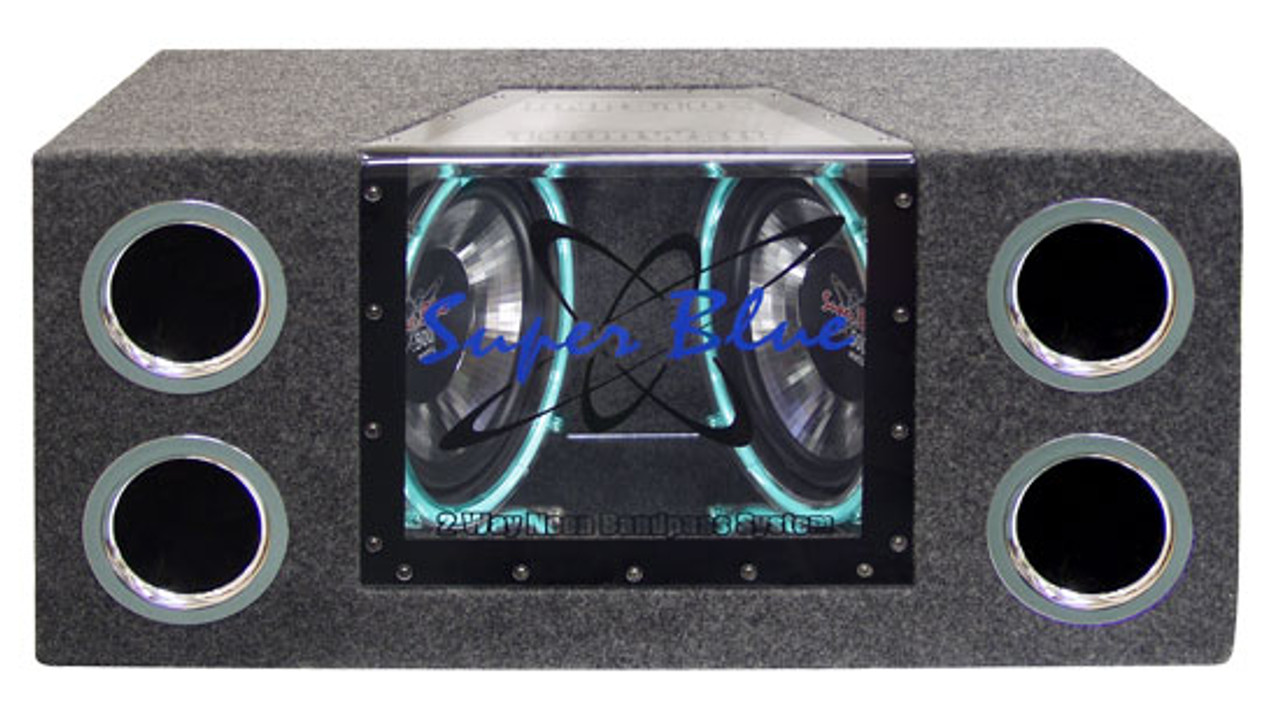 Discontinued by Manufacturer Pyle Pyramid BNPS122 12-Inch 1200-Watt Dual Bandpass System with Neon Accent Lighting