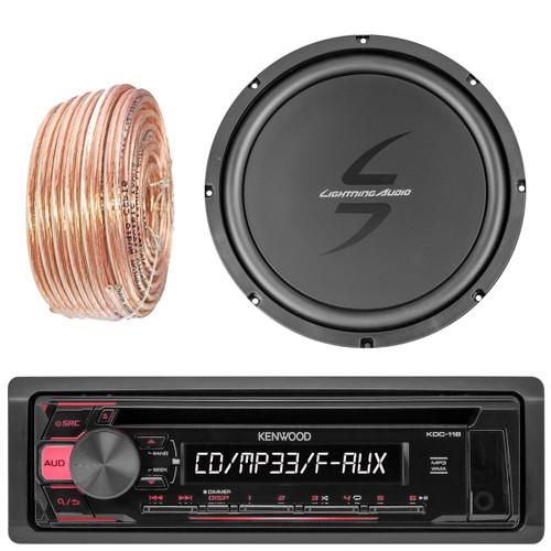 "50Ft Wire Lightning Audio by Rockford Fosgate L65S 6.5/"" 2-Way Car Speaker"