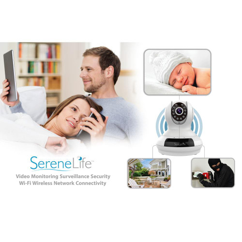 New SereneLife IPCAMHD61 HD Wireless IP Camera WiFi Cam, Remote Video  Monitoring Surveillance Security (White)