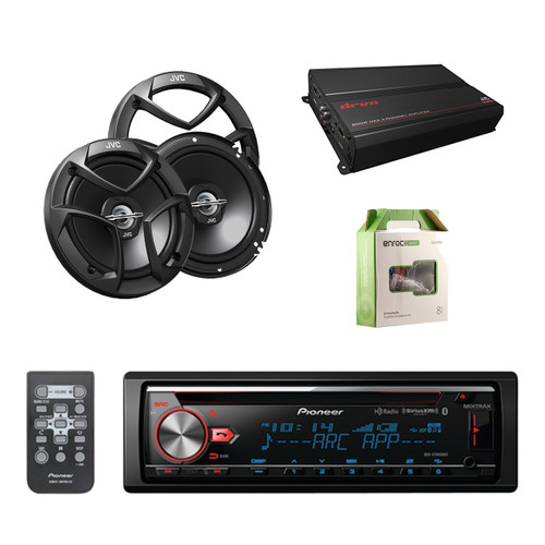pioneer cd bluetooth receiver with enhanced audio functions with jvc 6 5