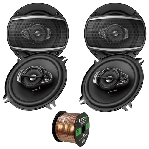 """Pioneer TS-A1370F 300 W Max 5.25/"""" 3-Way 4-Ohm Stereo Car Audio Coaxial Speakers"""