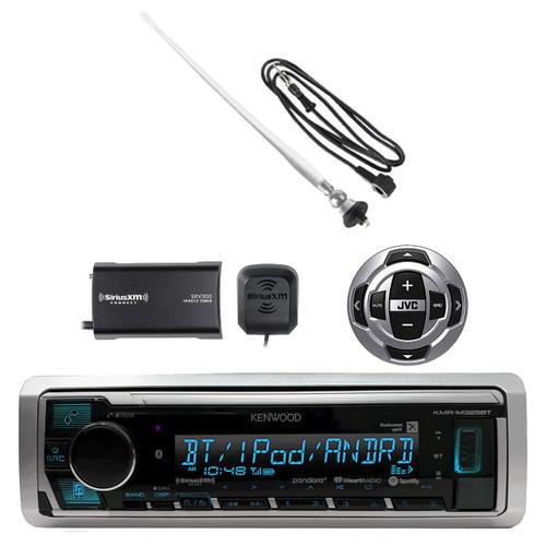 Clarion Marine Audio CD USB MP3 Watertight Stereo Receiver, SiriusXM