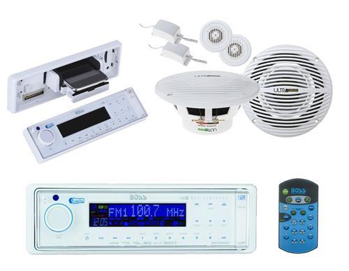 Boss MR1560DI Marine MP3-Compatible Digital Media Receiver and 2x 150W  Speakers - MPB5601