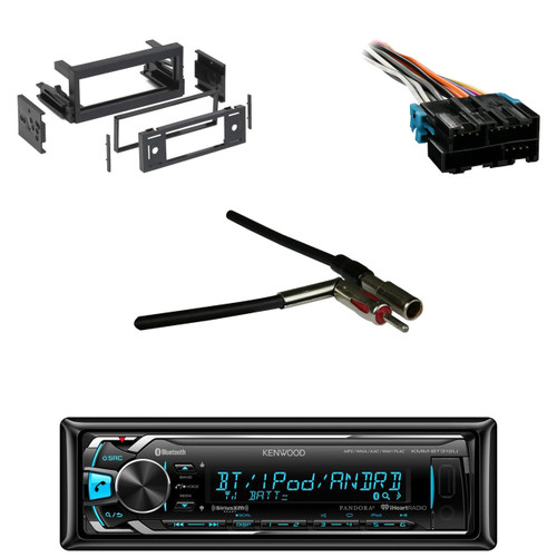 Kenwood Bluetooth USB Car Receiver, Dash Kit, GM Wire Harness,GM Antenna  Adapter