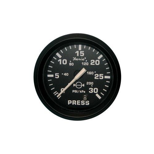 30 PSI 54711 Faria Euro White 2 Water Pressure Gauge Kit