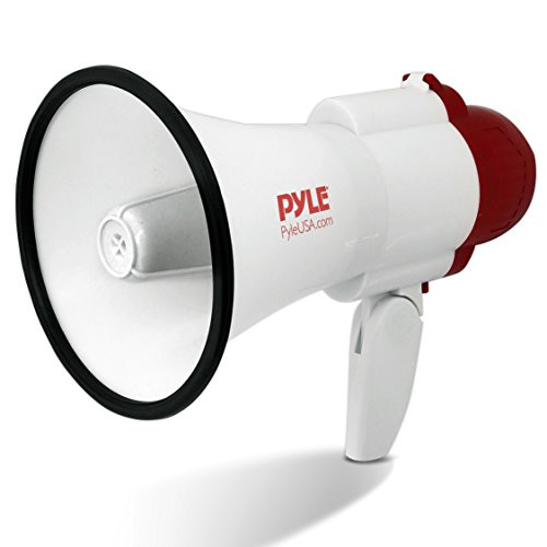 Pyle Handheld Portable Compact Bullhorn Megaphone Speaker with Built-in  Alarm Siren, Adjustable Volume & Voice Changer - Battery Powered Includes