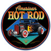 American Hot Rot 32 Metal Sign 14 x 14 Inches