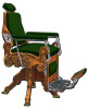 Kochs Barber Chair Metal Sign 15 x 20 Inches
