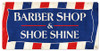Barber Shop & Shoeshine Metal Sign 24 x 12 Inches