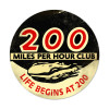 200 Mph Metal Sign 14 x 14 Inches