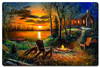 Fireside Metal Sign 24 x 16 Inches