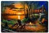 Fireside Metal Sign 36 x 24 Inches