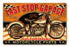 Last Stop Garage Metal Sign 18 x 12 Inches