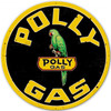 Polly Gas XL Metal Sign 42 x 42 Inches