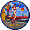 Car Hop Pin-Up Girl Metal Sign 28 x 28 inches