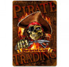 Pirate Trading Metal Sign 12 x 18 Inches