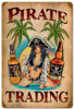 Pirate Trading Pinup Metal Sign 12 x 18 Inches