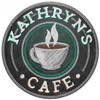 Cafe Personalized Sign 14 x 14 Inches