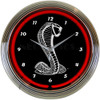 Ford Snake Neon Clock 15 X 15 Inches