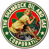 Shamrock  Oil and Gas - Pin-Up Girl Metal Sign 14 x 14 inches