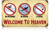 Retro Surf Heaven Metal Sign 14 x 8 Inches