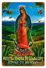 Vintage Guadalupe Metal Sign 12 x 18 Inches