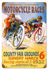 Vintage Motorcycle Races Metal Sign 2 12 x 18 Inches