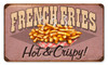 Retro French Fries Metal Sign 14 x 8Inches