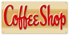 Retro Coffee Shop Metal Sign 24 x 12 Inches