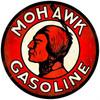Retro Mohawk Gasoline Round Metal Sign 28 x 28 inches