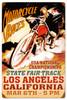 Retro LA Motorcycle Races Metal Sign 16 x 24 Inches