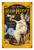 Retro Metal Sign Bee Kind Honey 12 x 18 Inches