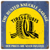 Vintage  Tire Shop Metal Sign 12 x 12 Inches