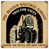 Vintage  Tractor Shop Metal Sign 12 x 12 Inches